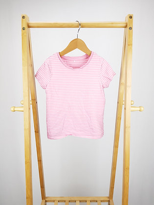 George pink striped t-shirt 5-6 years