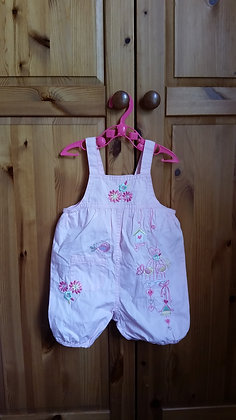 George baby girl dungarees 0-3 months