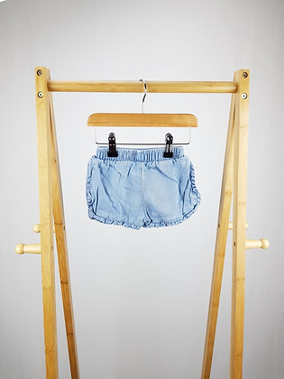 F&F denim shorts 6-9 months