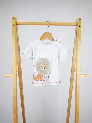 M&S lion t-shirt 9-12 months