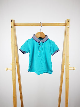 Matalan blue polo shirt 6-9 months