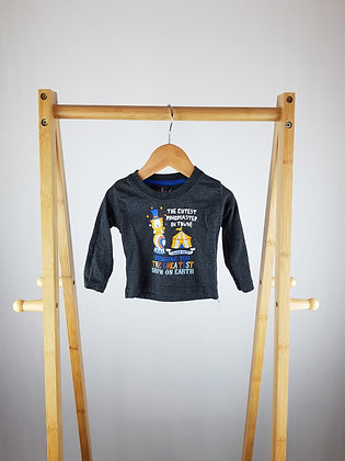 Early days circus long sleeve top 3-6 months