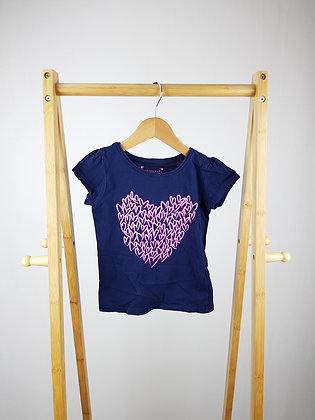Primark sparkly heart t-shirt 4-5 years