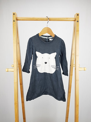 M&S knitted cat dress 12-18 months