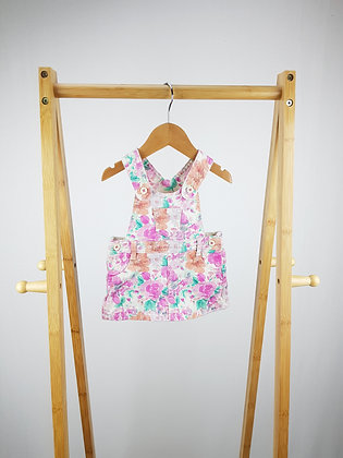 M&S floral pinafore dress 0-3 months