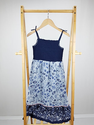 George blue floral dress 9-10 years