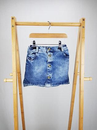 F&F buttoned denim skirt 7-8 years