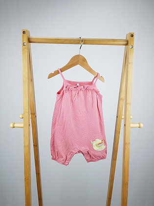 Bluezoo spotted rainbow romper 6-9 months