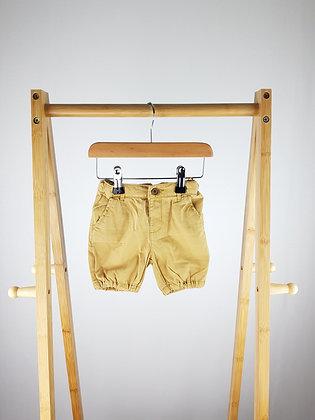Zara mustard shorts 9-12 months