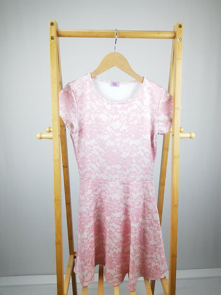 F&F pink floral dress 13-14 years