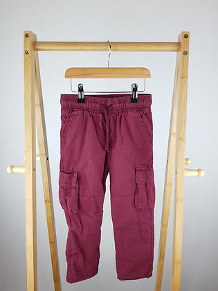 M&S lined burgundy trousers 4-5 years