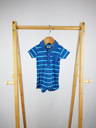 F&F striped polo romper up to 1 month