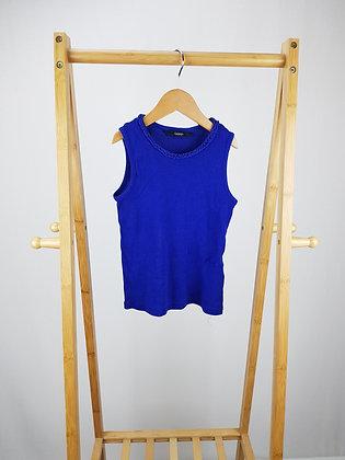 George blue ribbed vest top 5-6 years