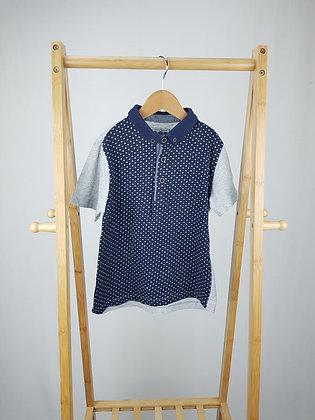 Matalan navy/grey polo shirt 6-7 years