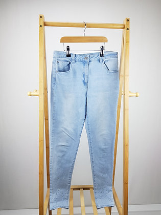 George light denim diamante jeans 12-13 years
