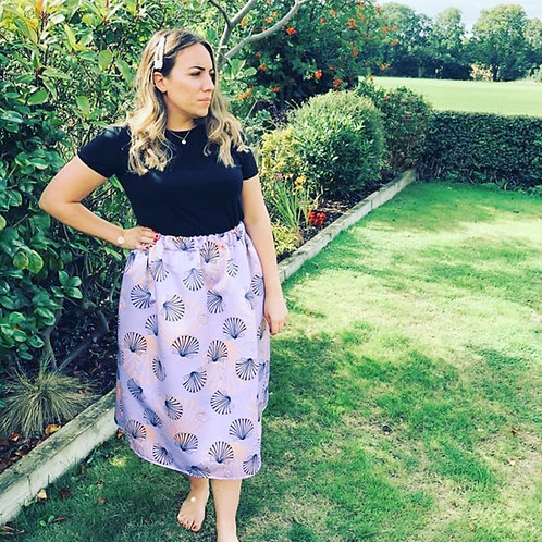 Midi Skirt - Shell Of A Time