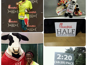 Hills, humidity, and cows? Chick-Fil-A half marathon.