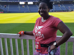 Braves 5k--Farewell to racing on Turner Field