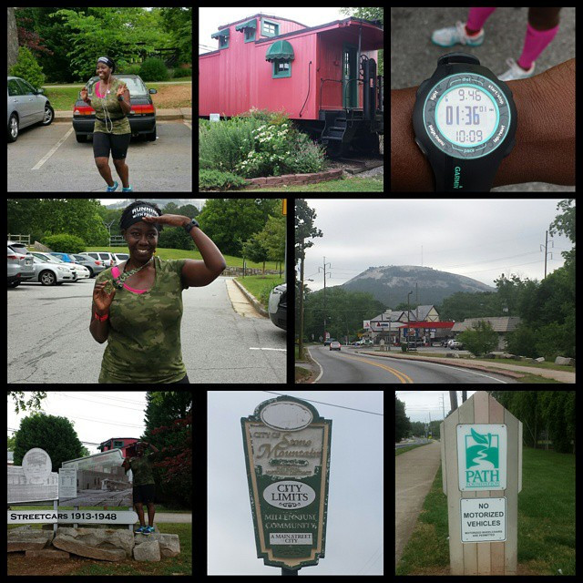 Instagram - Memorial Day Destination run was from Decatur to Stone Mountain Park