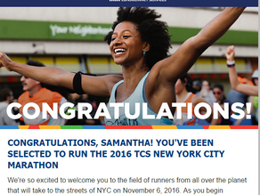 NYC Marathon here I come