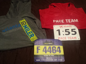 Newest Member of the Atlanta Track Club Pace Team (YAY)