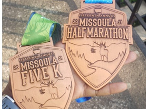 Medal Monday: Missoula Virtual Half Marathon