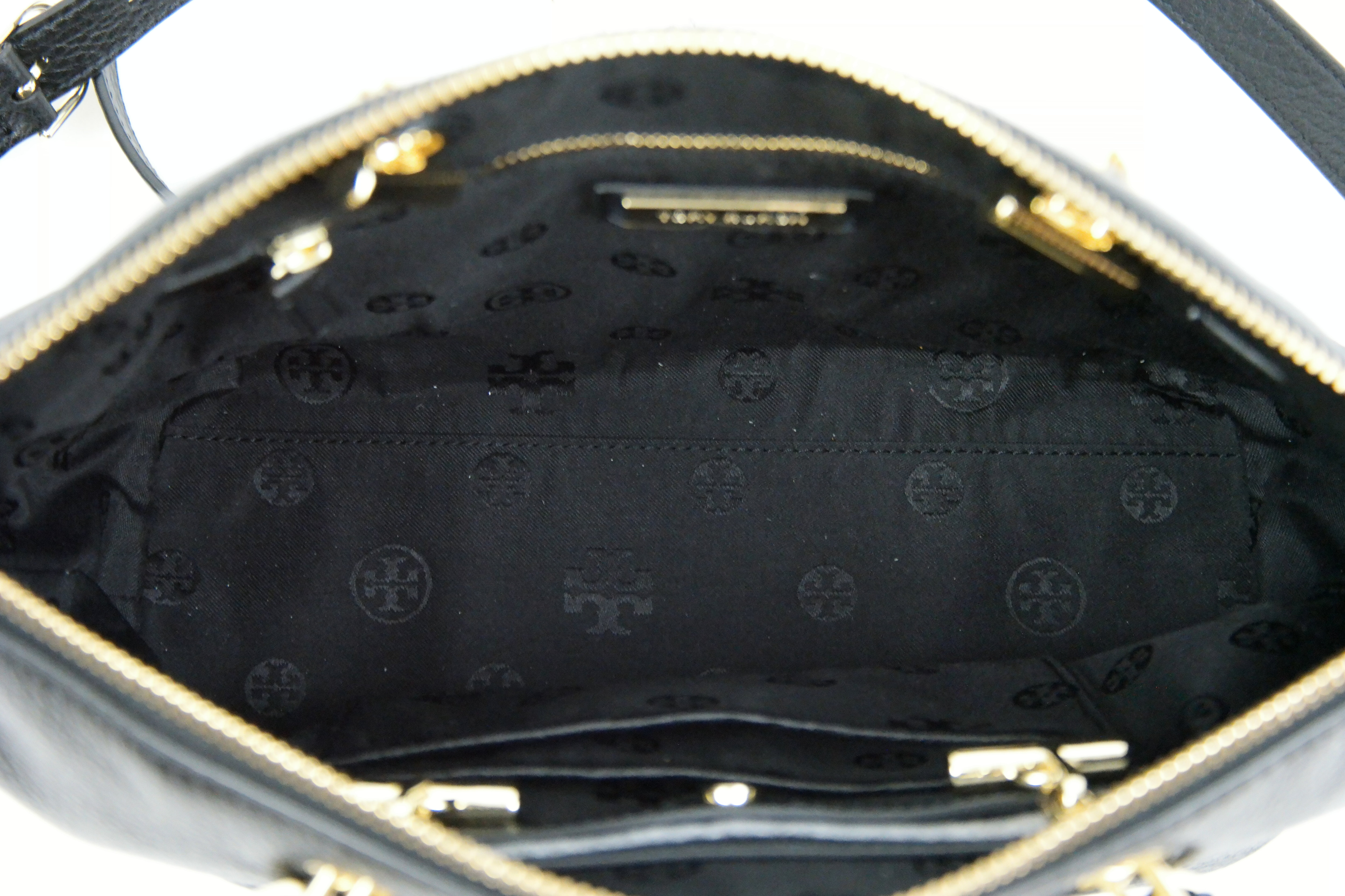 3b2e25a34584 Tory Burch Whipstitch Logo Small Slouchy Satchel