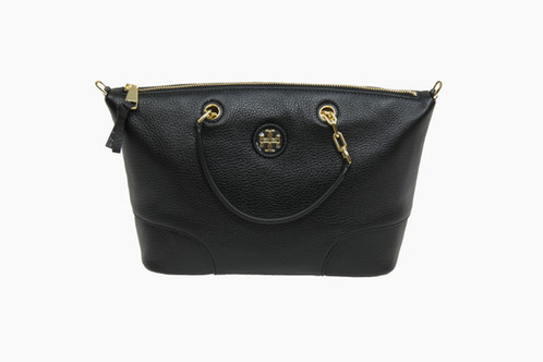 a1d01445fce A softened-up silhouette adds an air of effortlessness to Tory Burch s  convertible satchel.