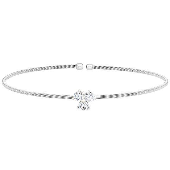 Bella Cavo 3 Stone Sterling Silver Bracelet