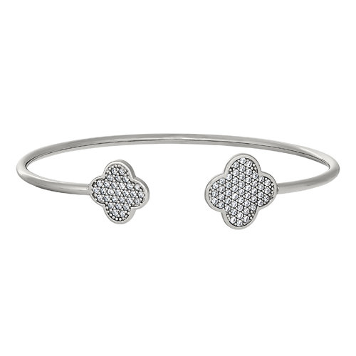 Bella Cavo Flexible Cuff Clover Bracelet