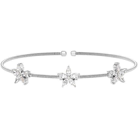 Bella Cavo 3 Flower Sterling Silver Bracelet