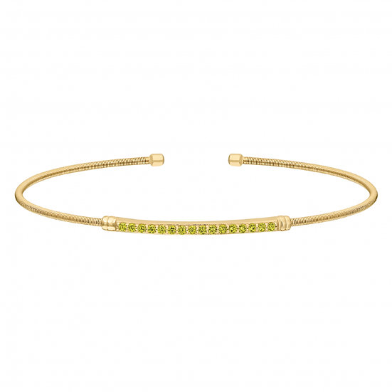 Bella Cavo Flexible August Birthstone Bracelet