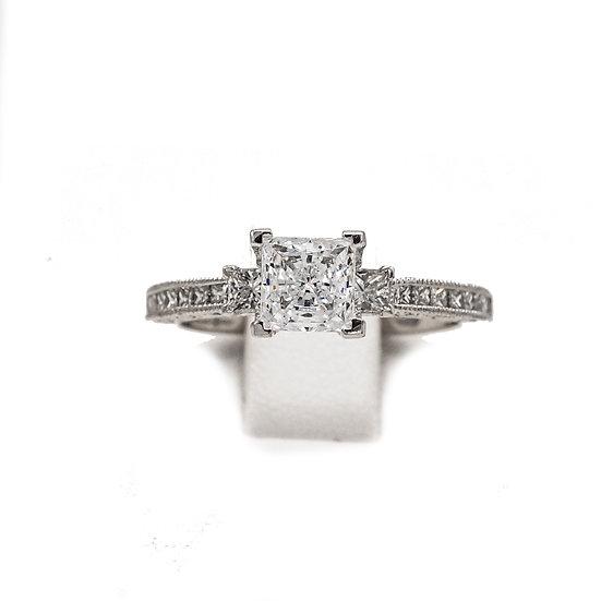 Tacori Princess 3-Stone Engagement Ring Style: HT2430SM12XW