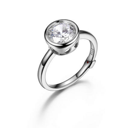 ELLE Sterling Silver and CZ Ring