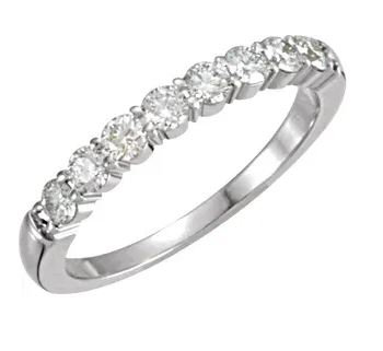 14k White Gold and Diamond Ring / Band
