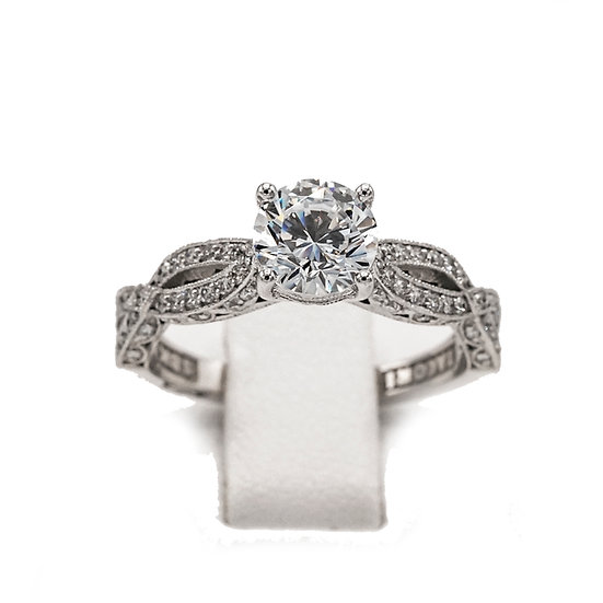 Tacori Twist Solitaire Engagement Ring Style: HT2528RD6.5W