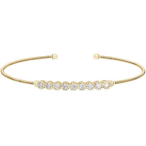 Bella Cavo Gold Plated Bubble Bracelet