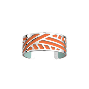 manchette-ruban-argentee-orange-lilium-b