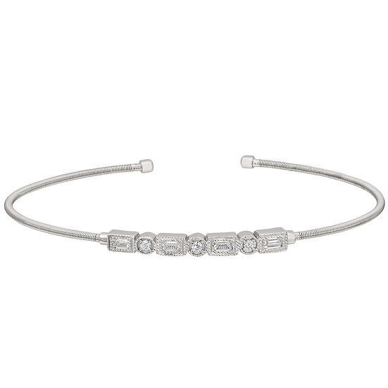 Bella Cavo Flexible Sterling Silver Bracelet