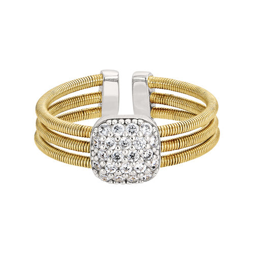 Bella Cavo Adjustable Gold Finish Ring