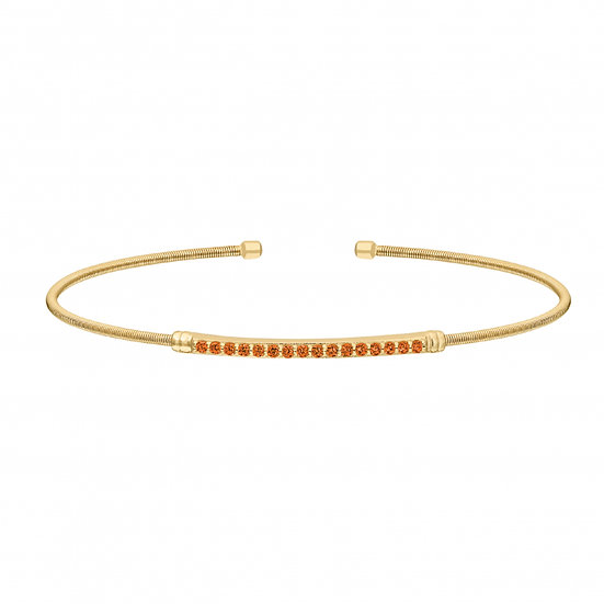 Bella Cavo Flexible November Birthstone Bracelet