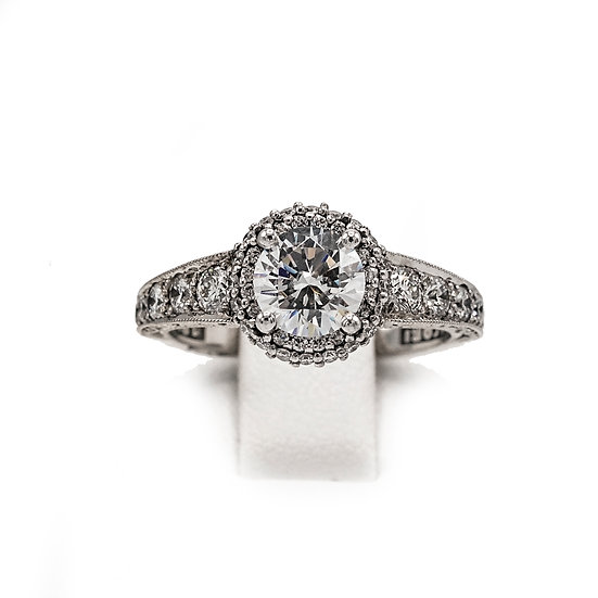 Tacori Round Halo Engagment Ring Style: Ht2516RD6.5W