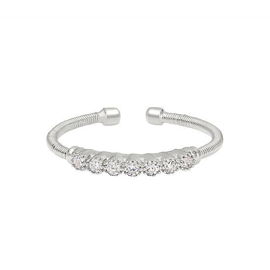 Bella Cavo Sterling Silver Adjustable Bubble Ring