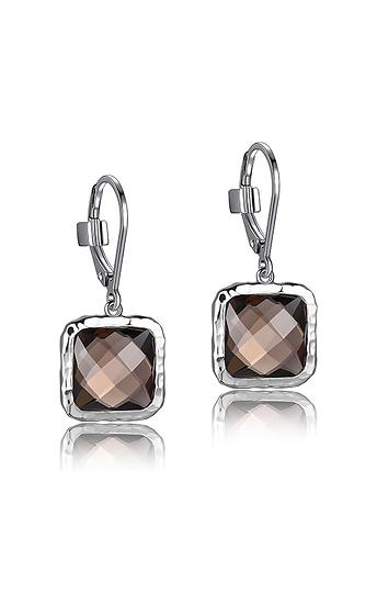 ELLE Smokey Quartz and Sterling Silver Earrings