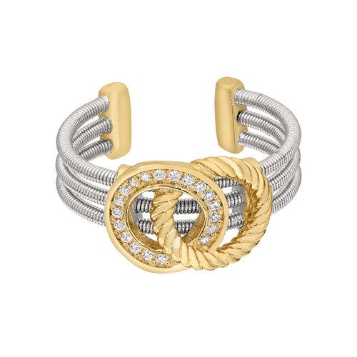 Bella Cavo Adjustable Two Tone Ring