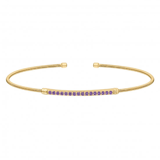 Bella Cavo Flexible February Birthstone Bracelet