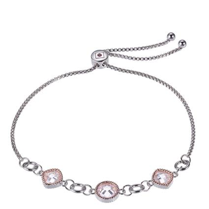 ELLE Rose Gold plated and Sterling Silver CZ Bracelet