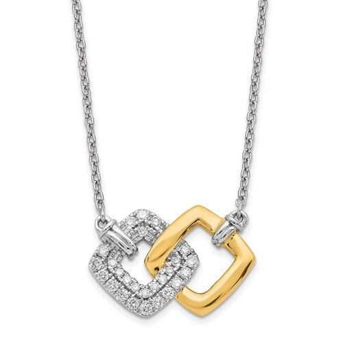 14k Two Tone diamond necklace