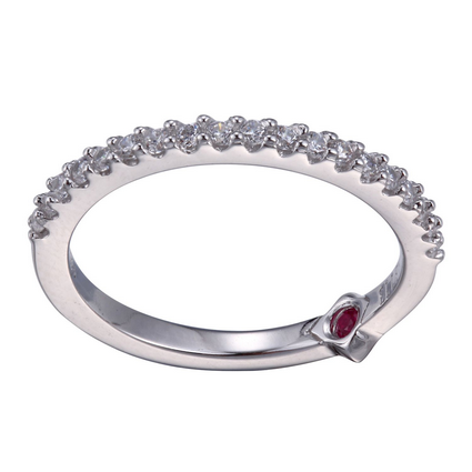 ELLE Sterling Silver and CZ Band