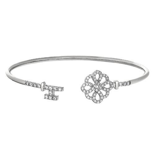 Bella Cavo Lock and Key Flexible Cuff Bracelet